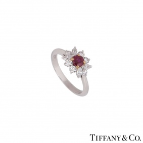 Tiffany & Co. Ruby and Diamond Ring in Platinum